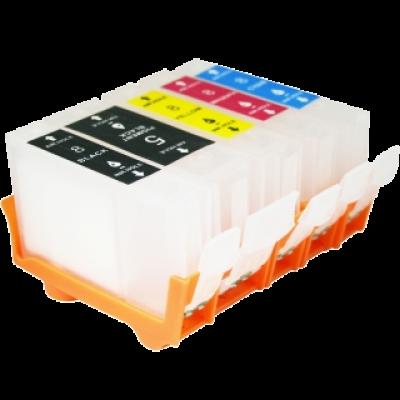 Перезаправляемые картриджи (ПЗК) (PGI-5Bk,CLI-8BK/C/M/Y) для Canon Pixma iP4200/5200 комплект 5 шт с чипами