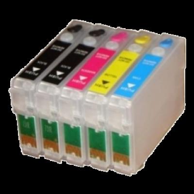 Перезаправляемые картриджи (ПЗК) (T1032/1033/1034/731*2) для Epson St Office T1100 комплект 5 шт с чипами