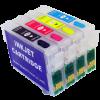 Перезаправляемые картриджи (ПЗК) (T1281-1284) для Epson St S22/SX120/SX125/SX130 комплект 4шт с чипами