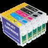 Перезаправляемые картриджи (ПЗК) (T0731*2-0734) для Epson St OfficeT30/TX510/C110 комплект 5 шт с чипами