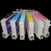 Перезаправляемые картриджи (ПЗК) (T0481/0482/0483/0484/0485/0486) для Epson St Photo R200/R300/R300M/RX500/RX600 комплект 6 шт с чипами