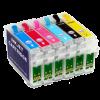 Перезаправляемые картриджи (ПЗК) (T0801-0806) для Epson St Photo P50 комплект 6 шт с чипами